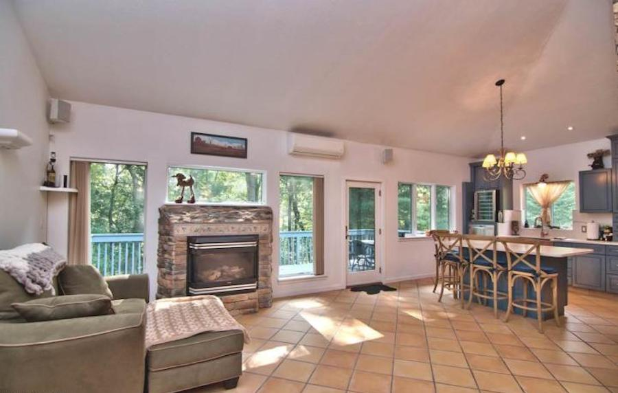 house for sale east stroudsburg contemporary living room and kitchen