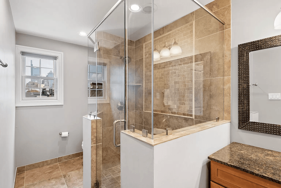 graduate hospital colonial house for sale primary bathroom