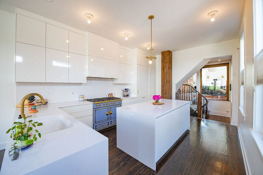 hawthorne renovated row house for sale kitchen