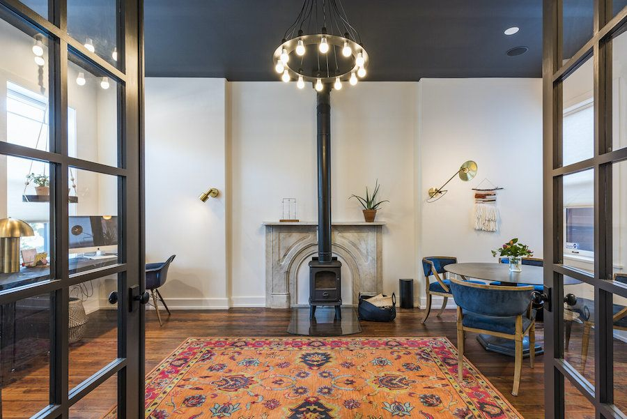 hawthorne renovated row house for sale home office