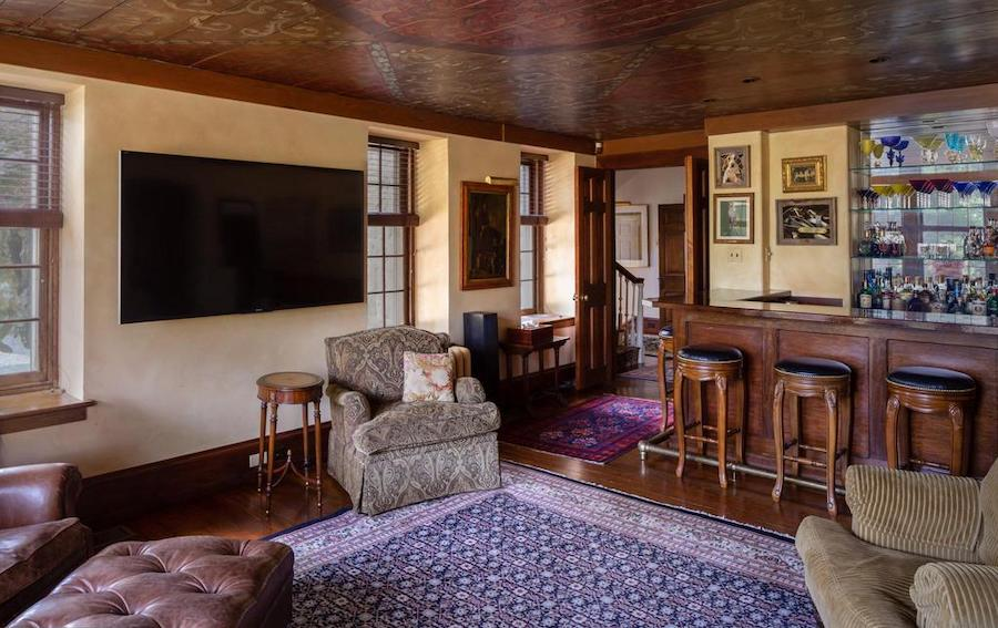 newtown square colonial farmhouse for sale parlor