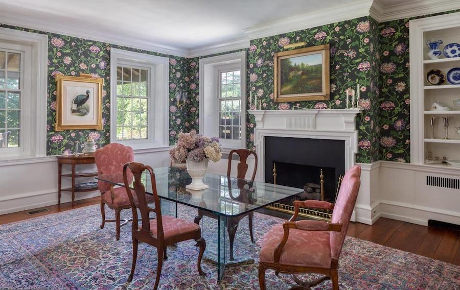 newtown square colonial farmhouse for sale dining room
