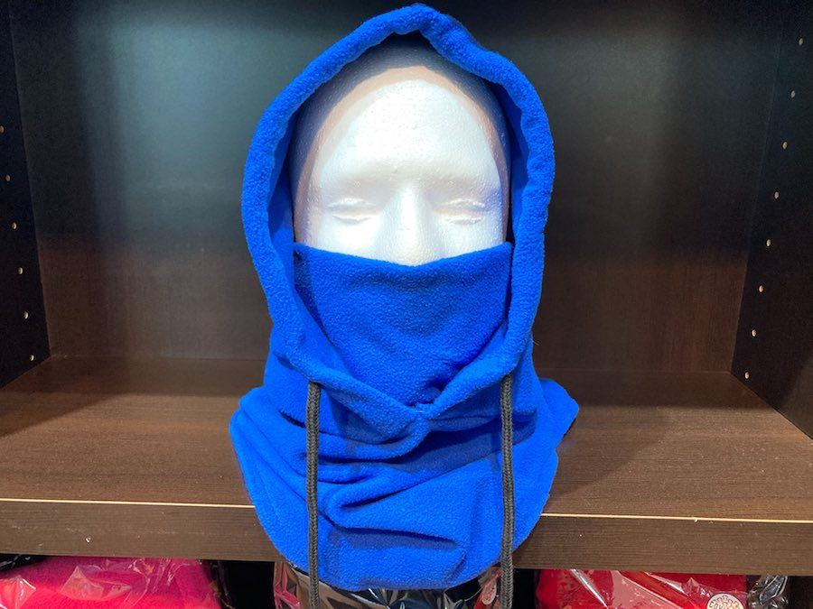 a mask with a built-in hood at the COVID store at the King of Prussia Mall