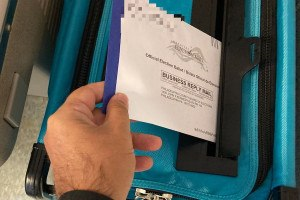This is me dropping my Pennsylvania mail-in ballot into a secure dropbox at a Philadelphia satellite election office, less than 20 minutes after I walked inside to apply for it.