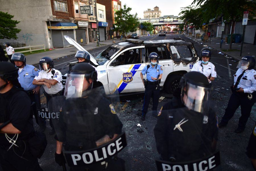 philly police gather on 52nd street in west philadelphia on may 31st, and the actions of police in that neighborhood have led to two new lawsuits