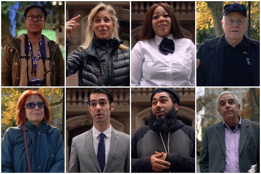 screenshots from interviews that eight Philadelphians gave on the day after Donald Trump won the 2016 election