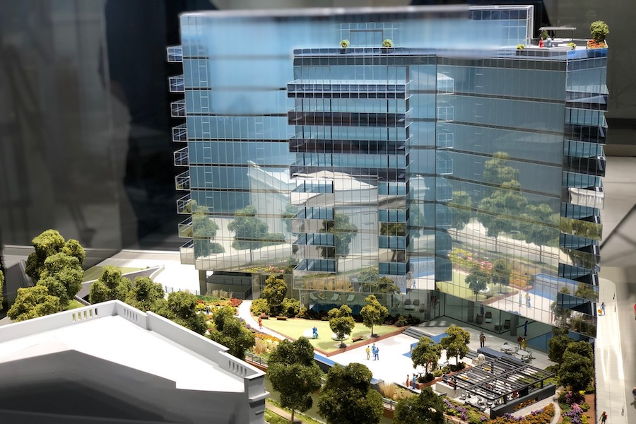 2100 Hamilton profile model of building