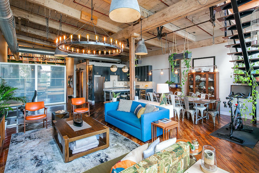 condo for sale fishtown loft main living area