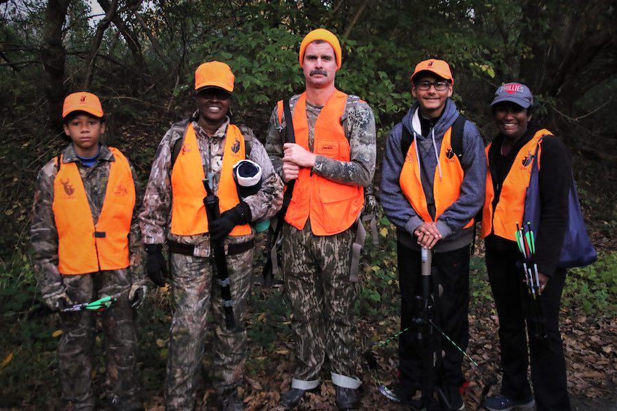 participants in the inaugural heinz wildlife refuge deer hunt during Pennsylvania deer hunting season in 2019
