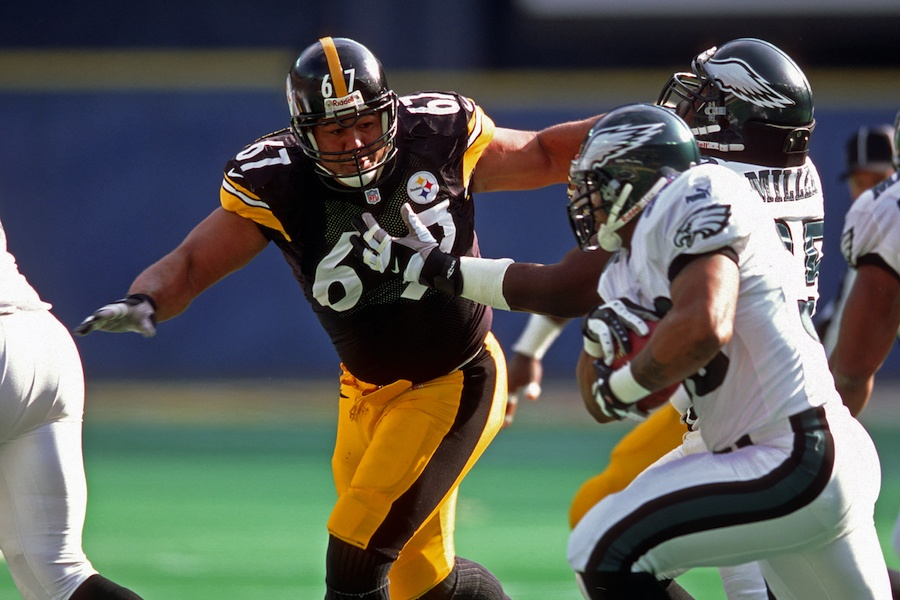 a photo of the eagles playing the steelers, and if you want tickets to see the eagles play the steelers this sunday, you will have to fork out a lot of money