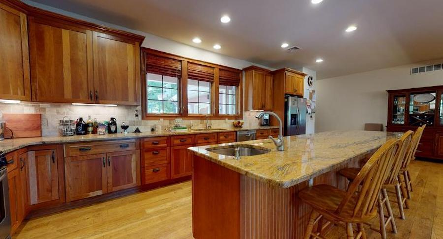 white heron lake house for sale kitchen