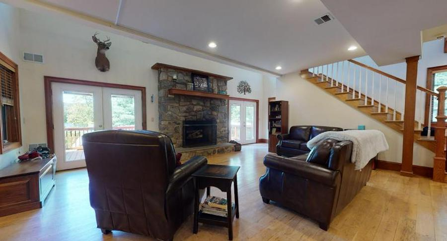 That's because this house has all the modern creature comforts along with plenty of space for socially distant relaxation and entertaining, starting with the totally open main-floor living area.living room