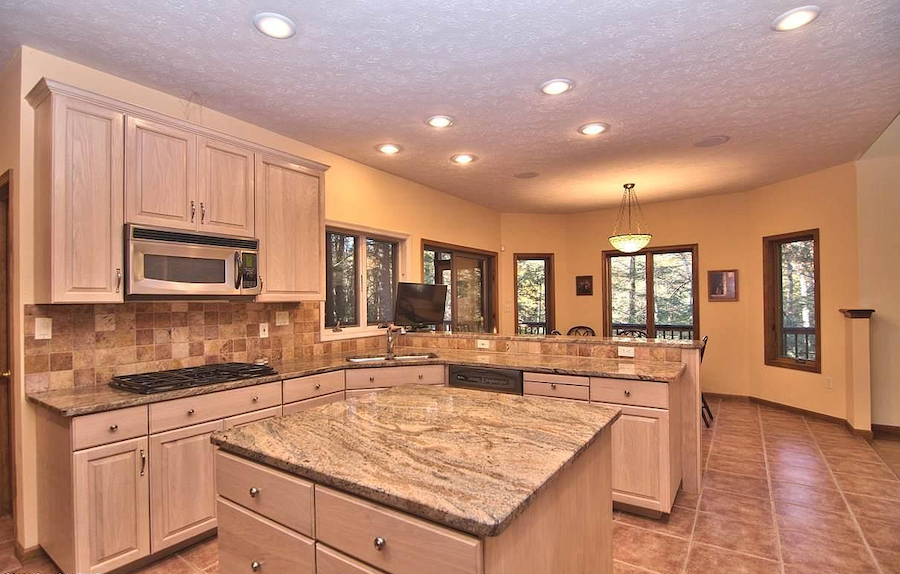 house for sale Pocono Pines contemporary kitchen and casual dining area
