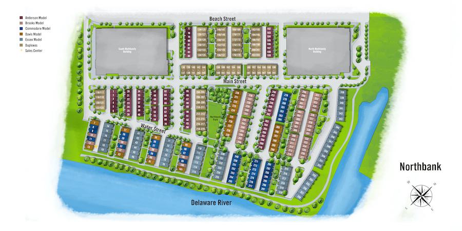 Northbank profile site plan