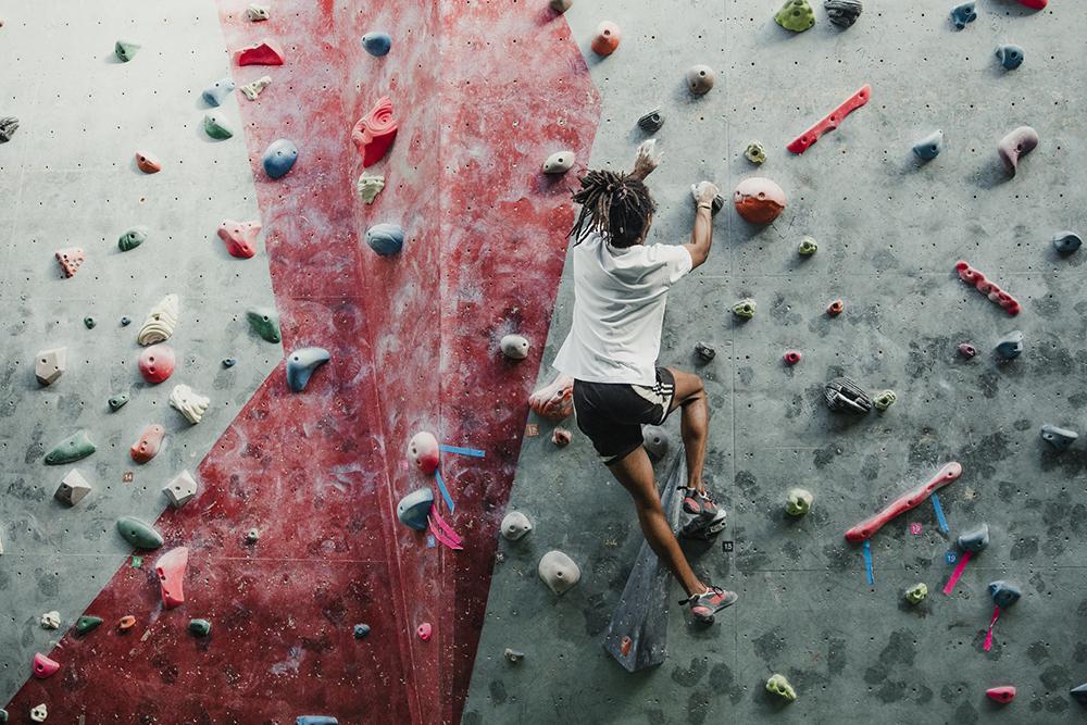 rock climbing gym exercise