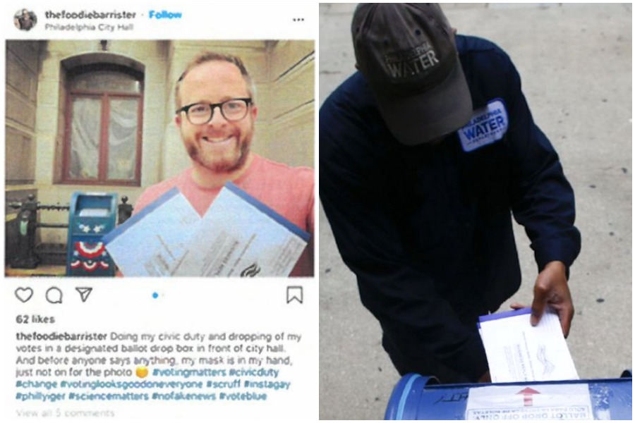 photos that the Trump campaign submitted as evidence of Philadelphia voter fraud in the campaign's lawsuit against Pennsylvania