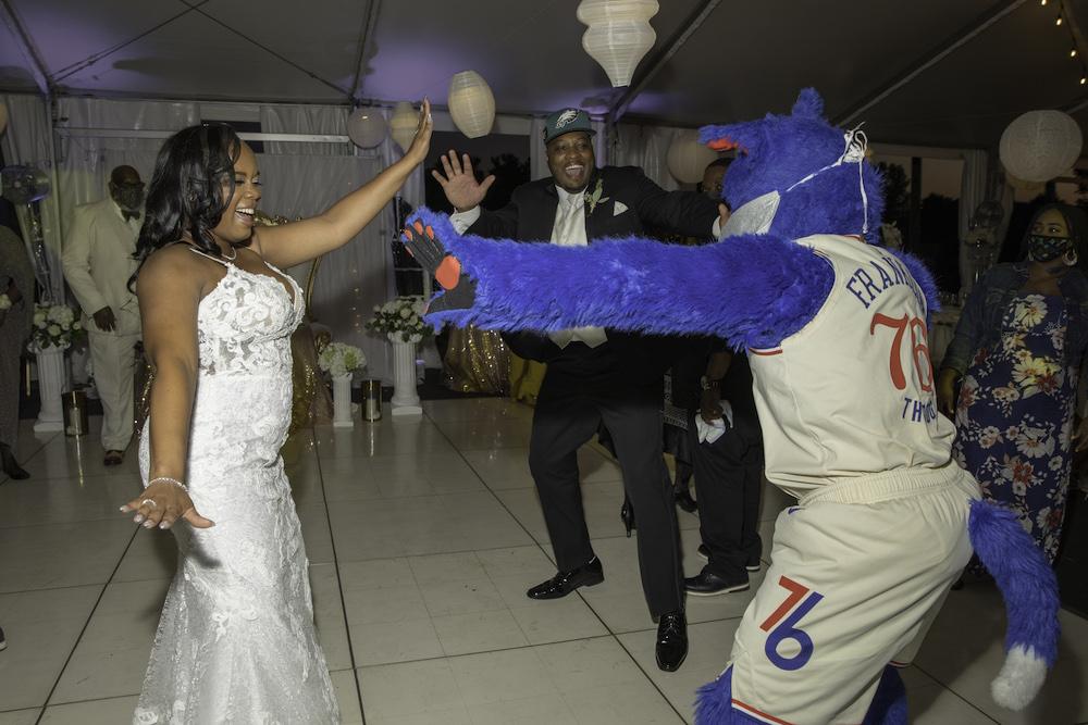 wedding mascot dance