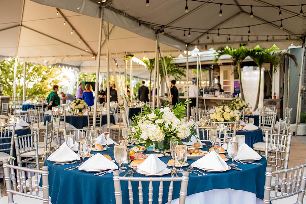 wedding in outdoor tent