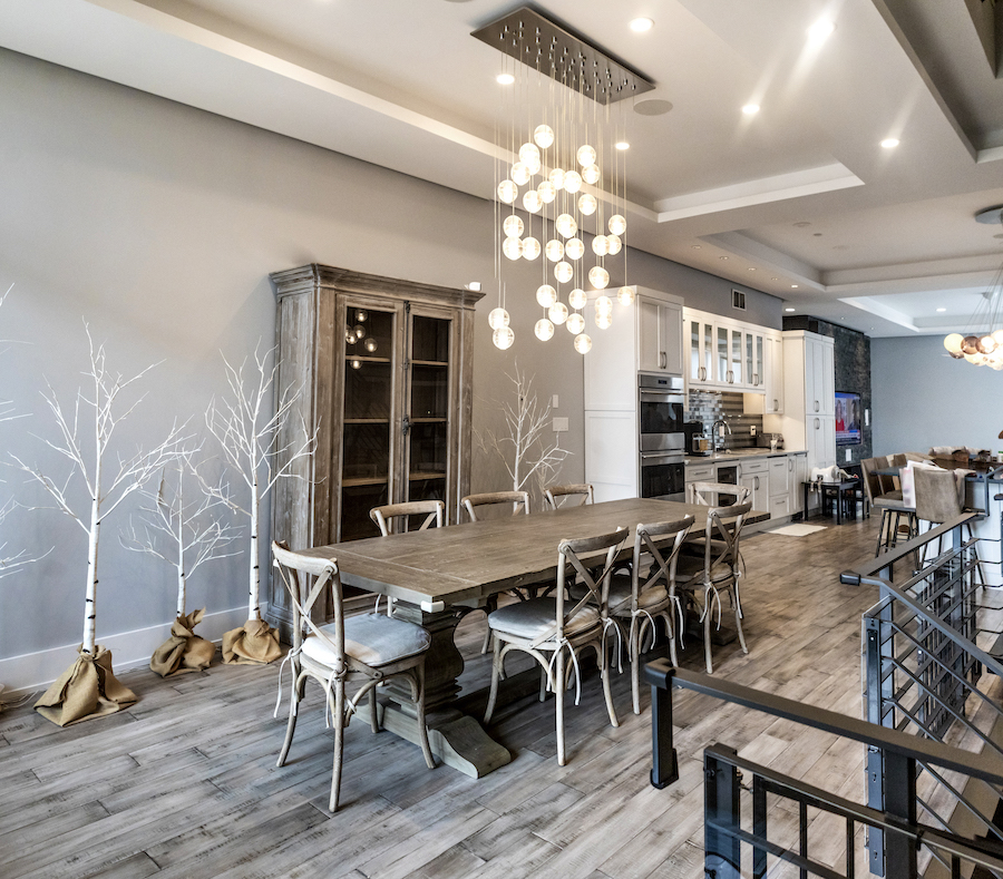condo for sale northern liberties modern townhouse dining room
