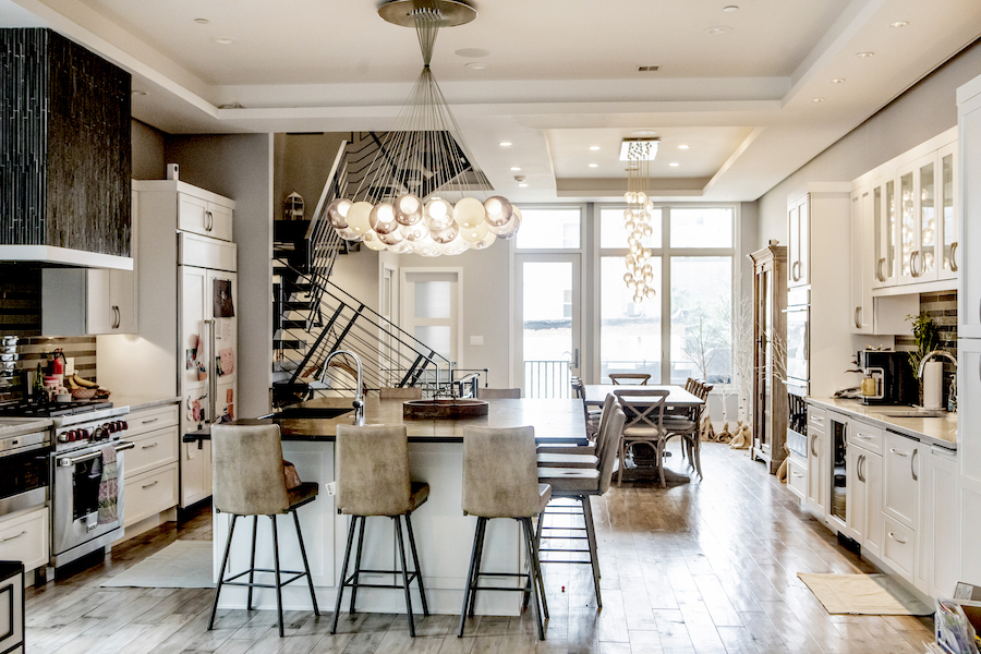 condo for sale northern liberties modern townhouse kitchen