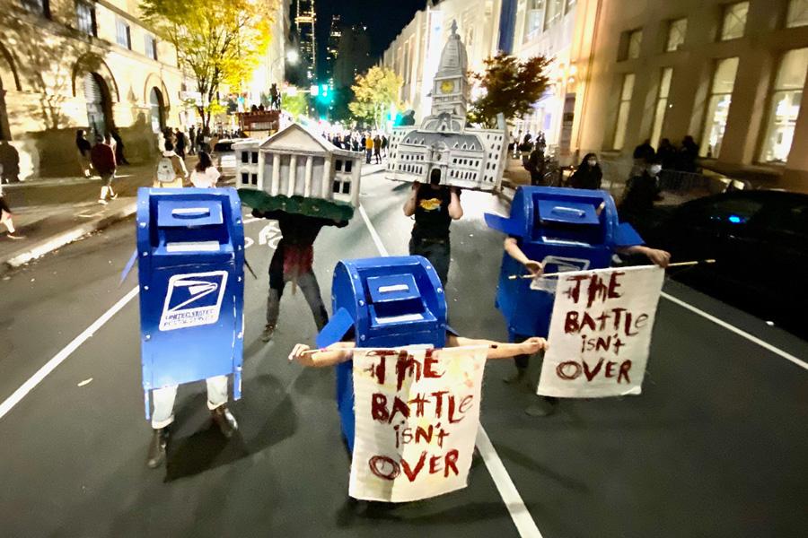 dancing mailboxes philadelphia