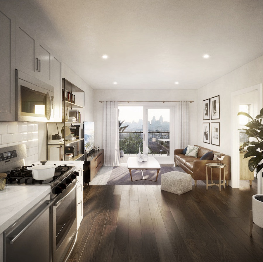 typical apartment rendering