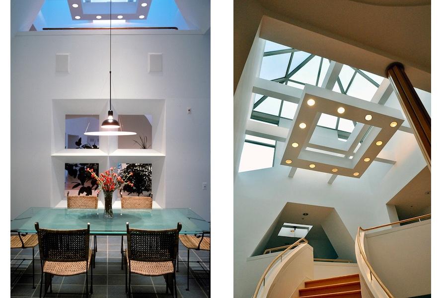 breakfast room and main stairwell skylight