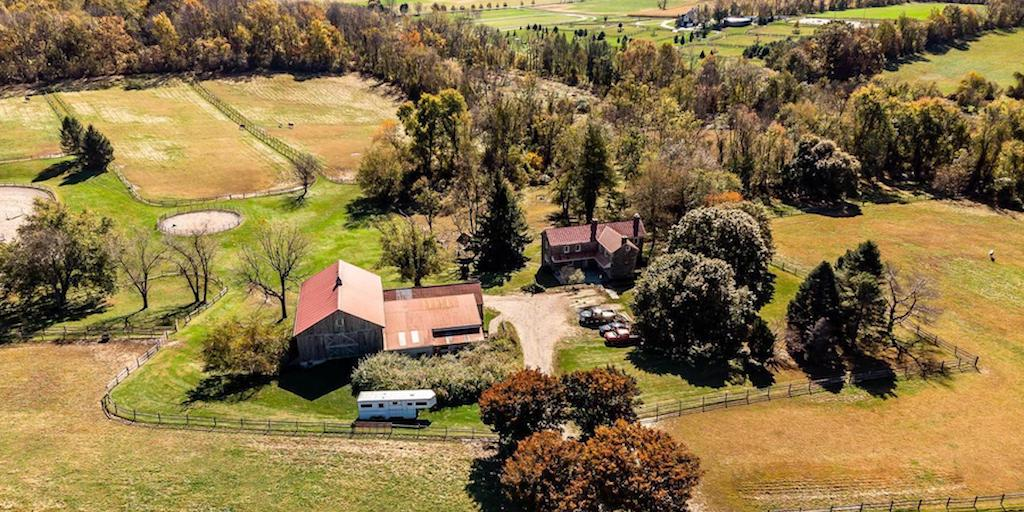 house for sale 1849 Chester Springs farm aerial view