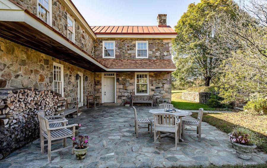 house for sale 1849 Chester Springs farm patio
