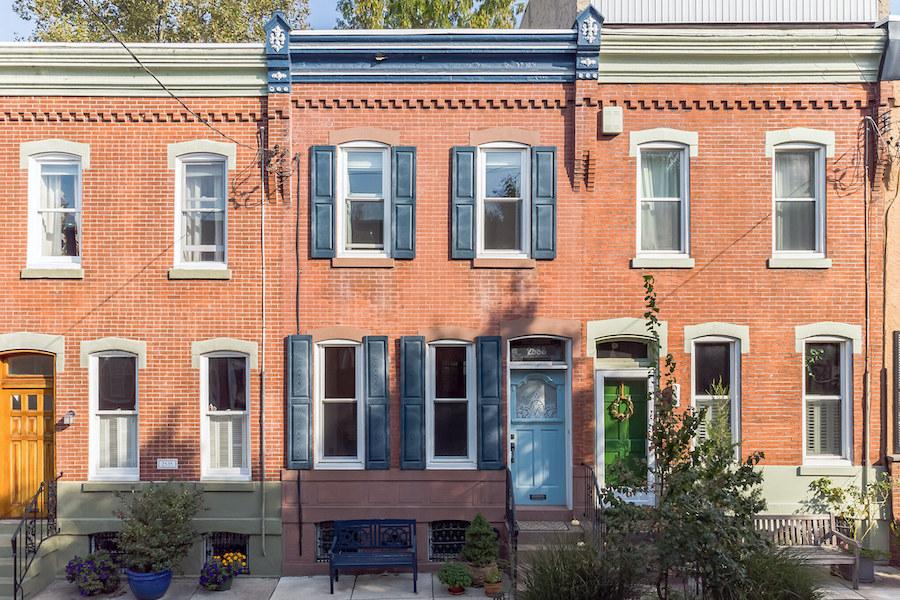 house for sale Fairmount workingman's row exterior front