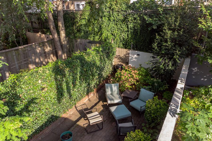 house for sale Fairmount workingman's row rear patio overhead