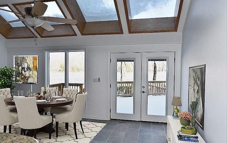 kitchen, deck view