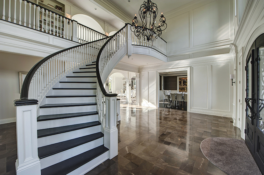 house for sale Newtown Norman mansion foyer