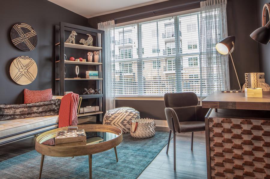 inwood at renaissance square apartment profile model apartment bedroom (den/study)