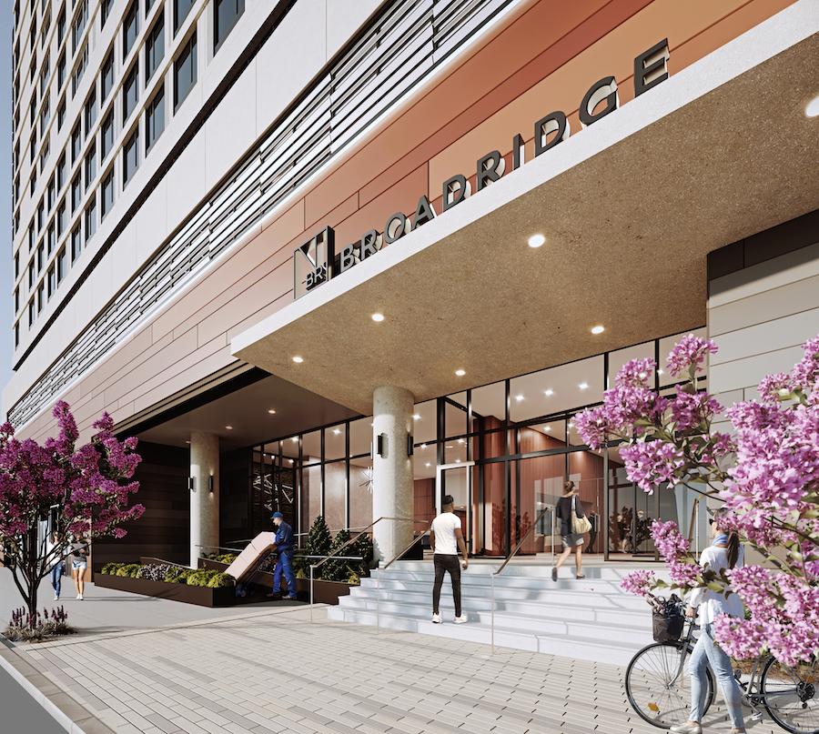 broadridge apartment preview building entrance
