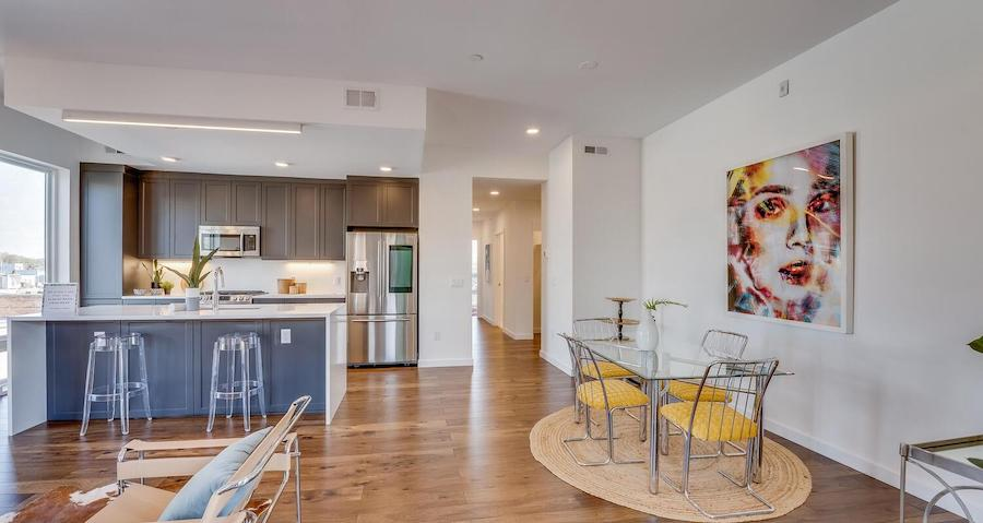 condo for sale Brewerytown penthouse dining area and kitchen