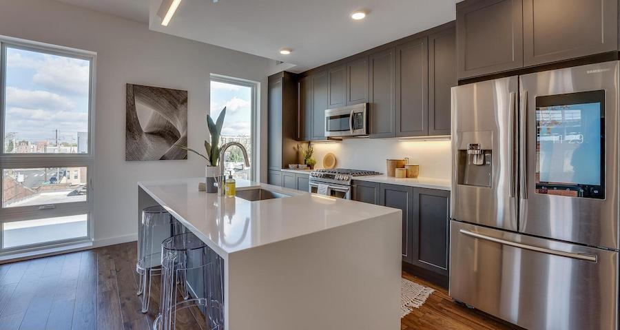 condo for sale Brewerytown penthouse kitchen