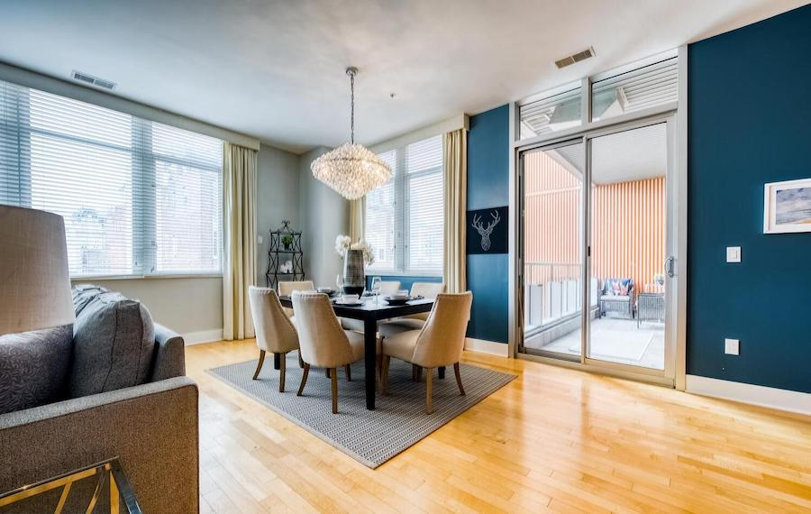 condo for sale wash west modern dining room