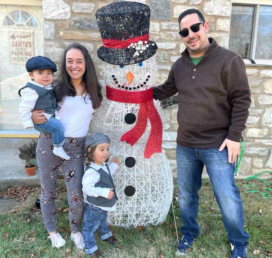 ChristmasPrism Christmas lights app creator Mike Kane and his family