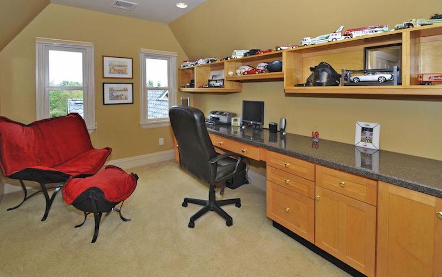 third-floor home office