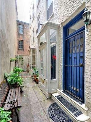 house for sale Rittenhouse Square alley trinity front entrance