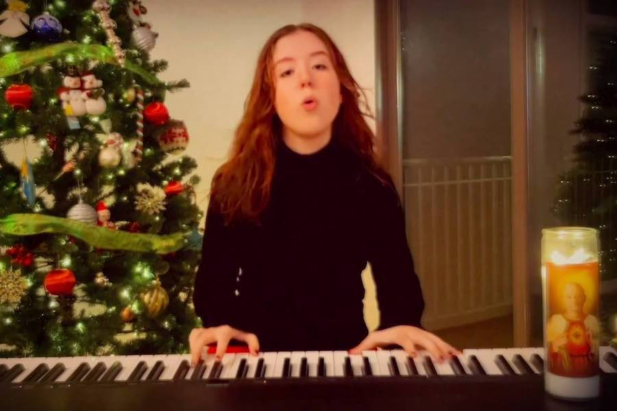 singer wallis performing her new christmas song called lonely christmas