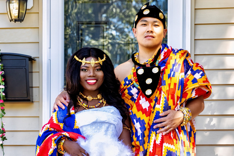multicultural pandemic wedding