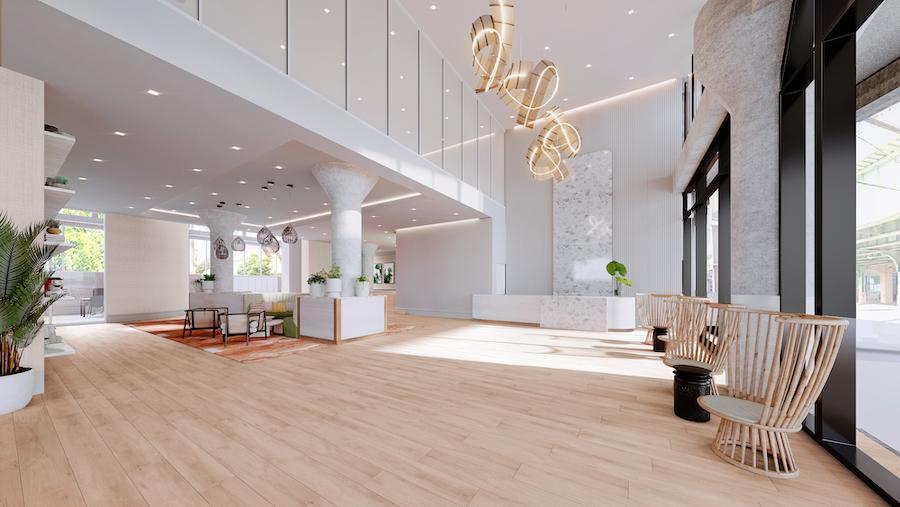 the poplar apartment profile lobby
