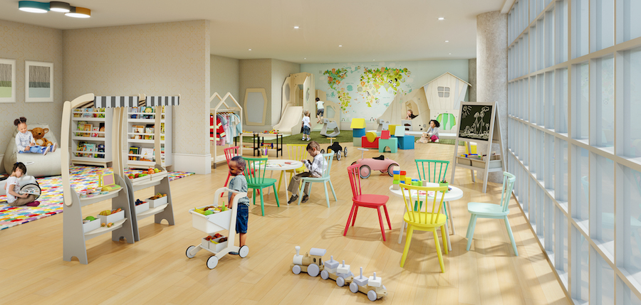the poplar apartment profile playroom