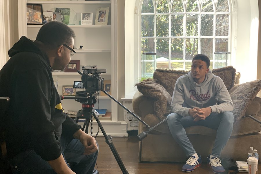 tigre hill filming michael white for a new documentary about the killing of Sean Schellenger