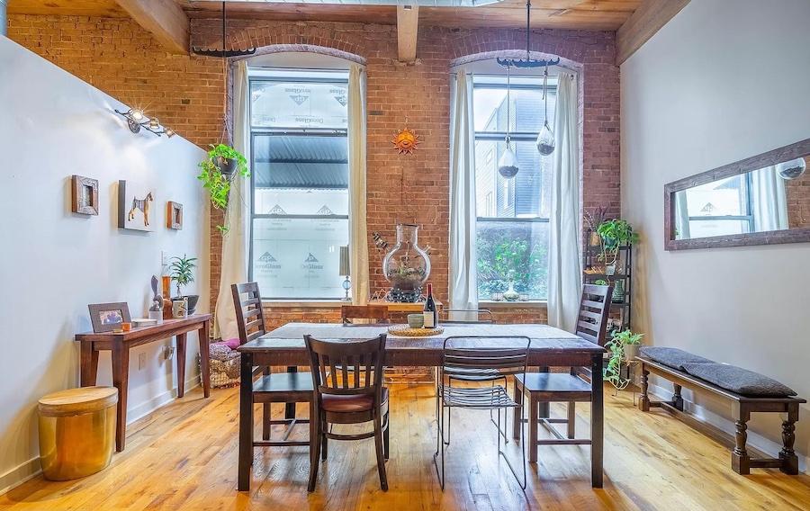 condo for sale south Kensington loft dining room