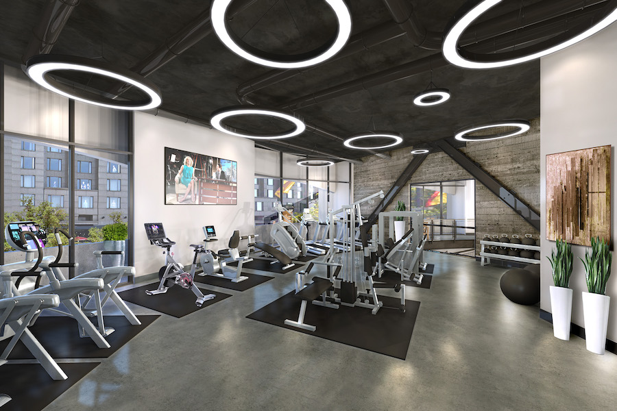 embassy suites conversion fitness center