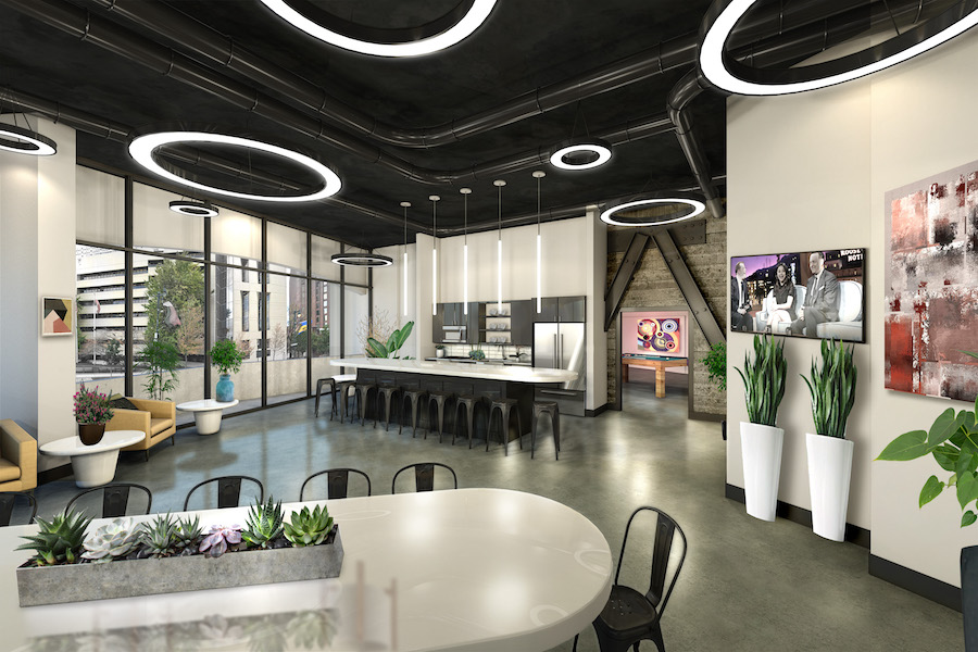 embassy suites conversion kitchen and party room
