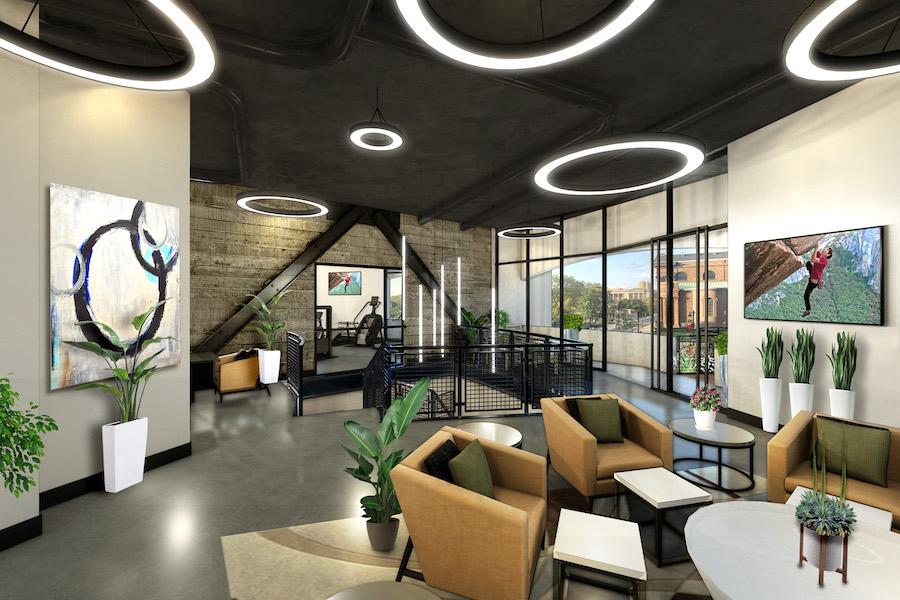 embassy suites conversion amenity floor lounge